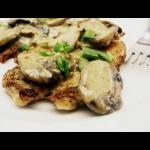 Chicken Paillards (Cutlets) with Mushroom Cream Sauce