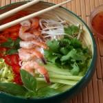Vietnamese Bún or Shrimp Vermacelli Dish