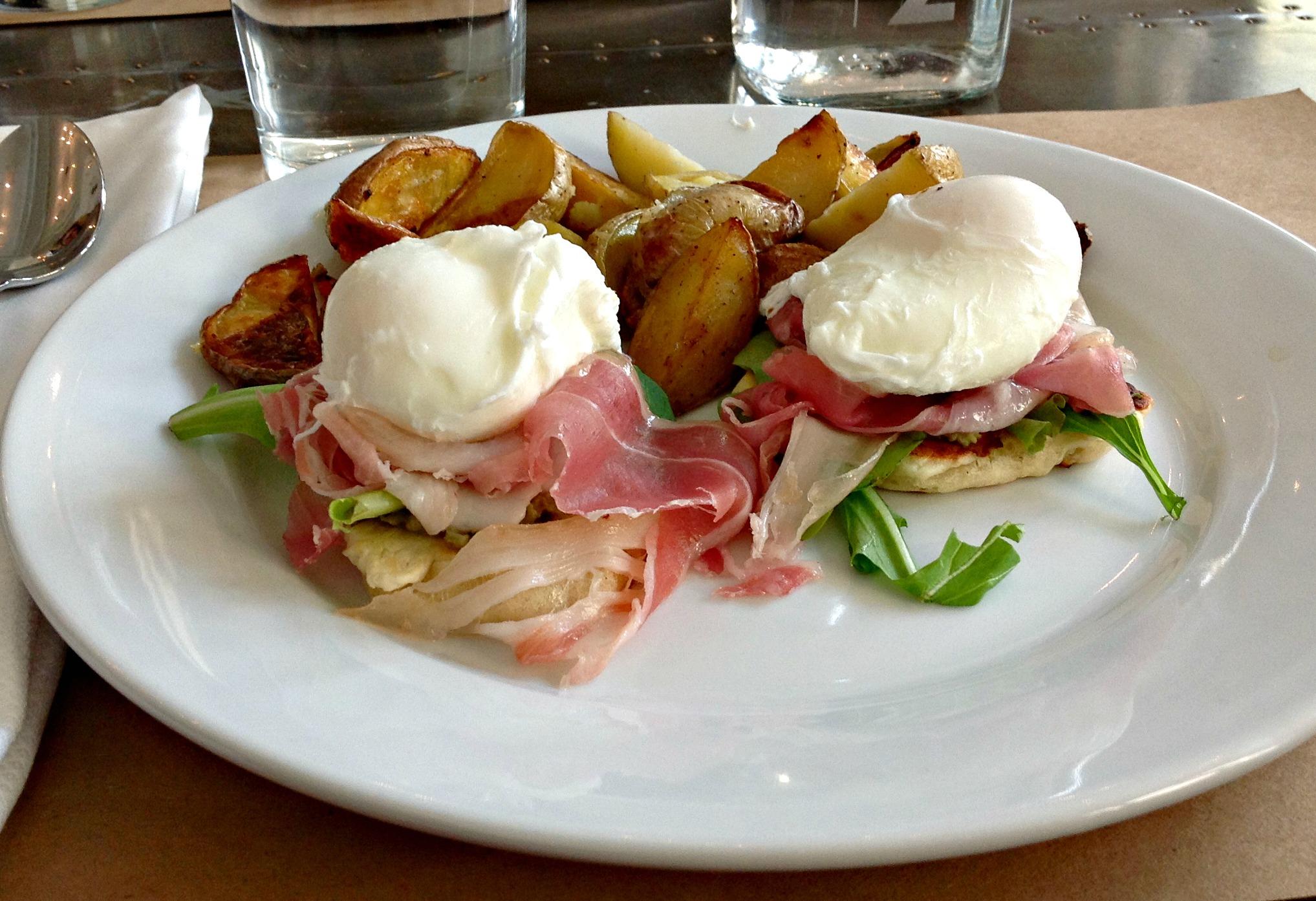 """Arugula Pesto """"Green Eggs And Ham"""" Sandwich Recipe — Dishmaps"""