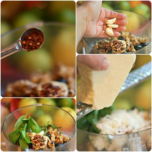 ingredients pesto rosso