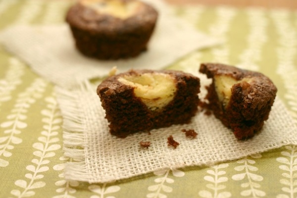 Black Bottom Cupcakes Cut