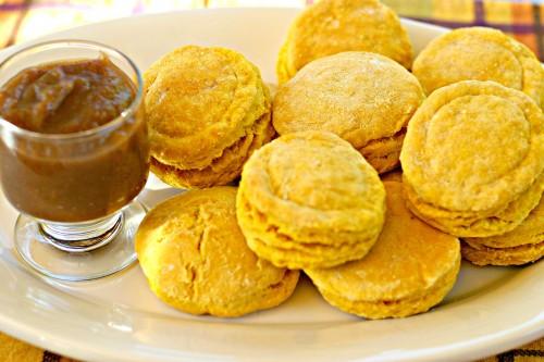 Pumpkin Biscuits Apple Honey Butter