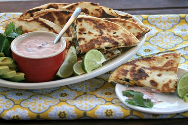 Turkey Quesadillas -Leftover Thanksgiving Recipe | Dishin & Dishes