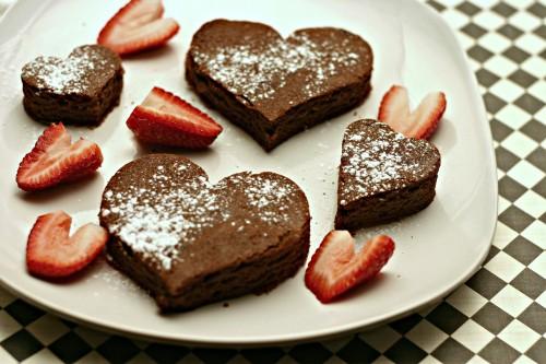 Valentine Brownie Hearts