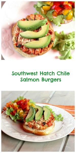Southwest Salmon Burger collage