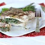 Kale Pesto and Mushroom Stuffed Porterhouse Chops