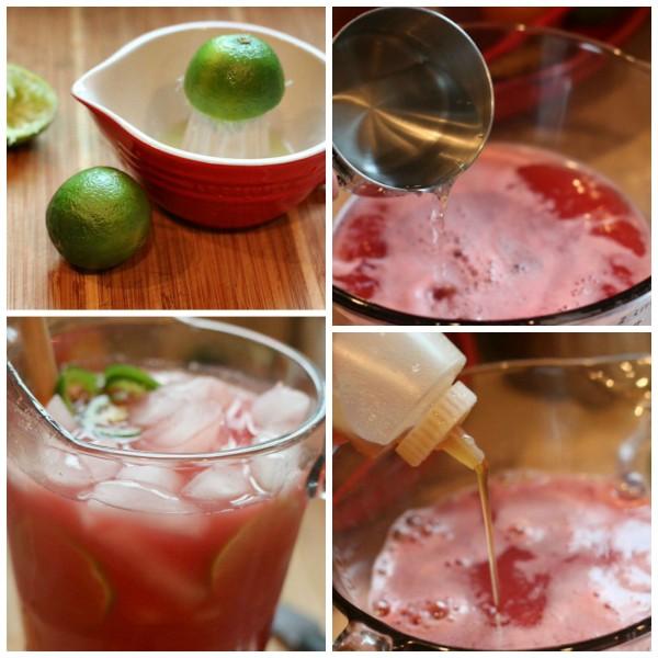 watermelon agua fresca collage