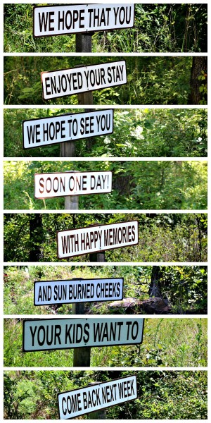 Carlton Landing Exit Signs