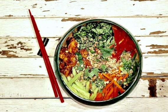 Thai Curried Shrimp Quinoa Bowl