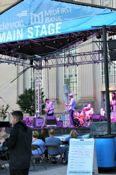 music stage OKC city arts festival 2016