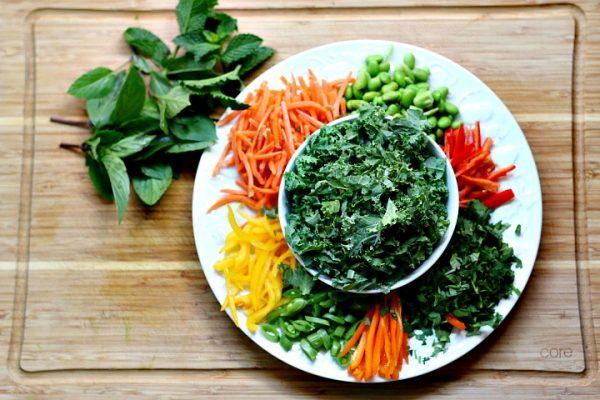 Thai salmon buddha power bowl ingredients