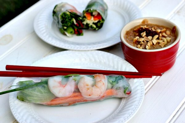 fresh spring rolls zucchini noodles