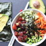 Ahi Tuna Poke Sushi Bowl