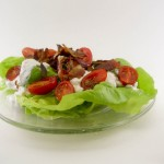 Pancetta Tomato Bibb Lettuce Salad with Homemade Blue Cheese Dressing