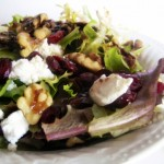 Cranberry Walnut Baby Greens Salad with Goat Cheese