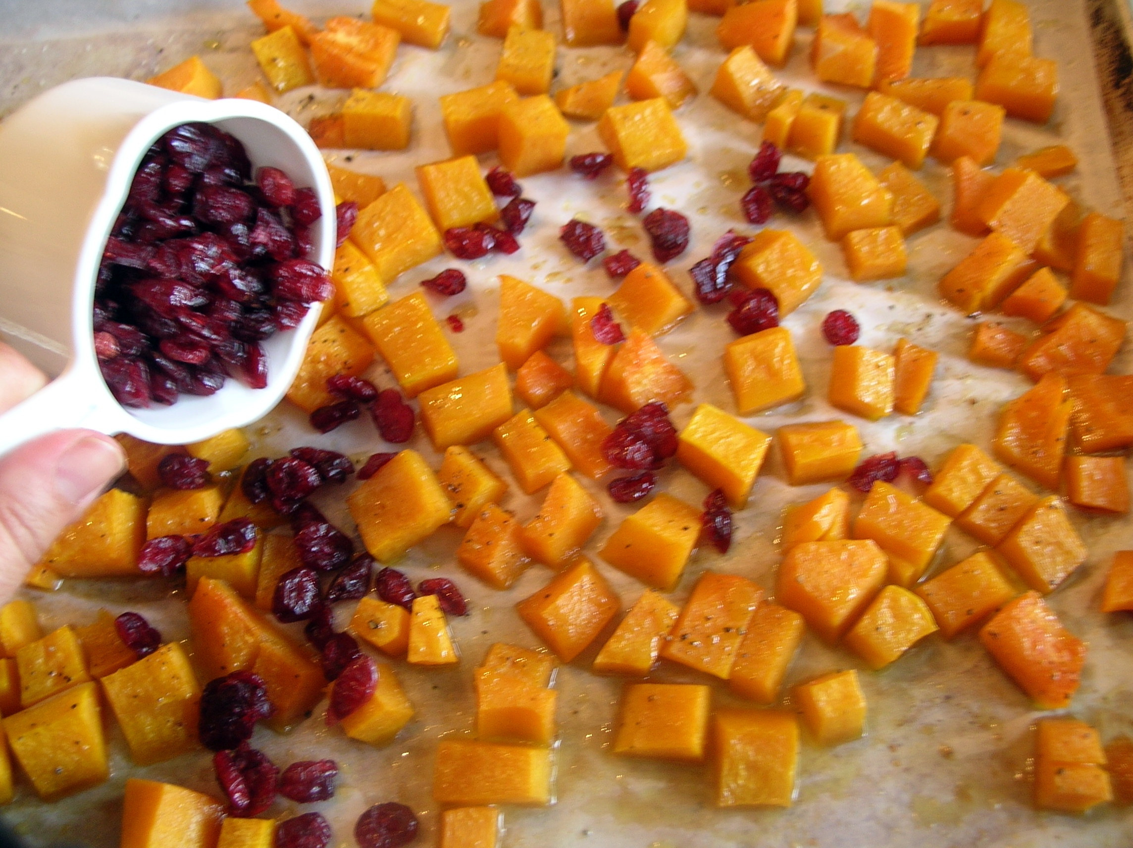 roasted butternut squash salad with cider vinaigrette dishin