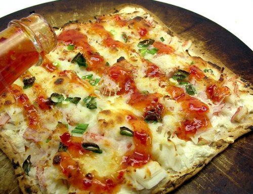 Crab Rangoon Flatbread Pizza