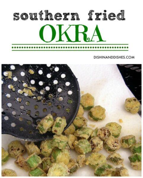 Southern Fried Okra recipe - Dishin & Dishes