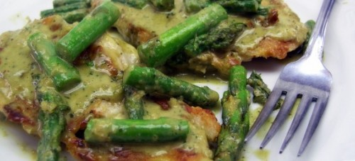 chicken asparagus cream sauce
