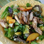 Peach Lacquered Chicken Salad