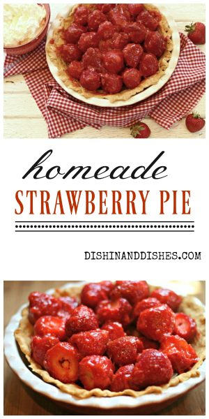 homemade strawberry pie recipe