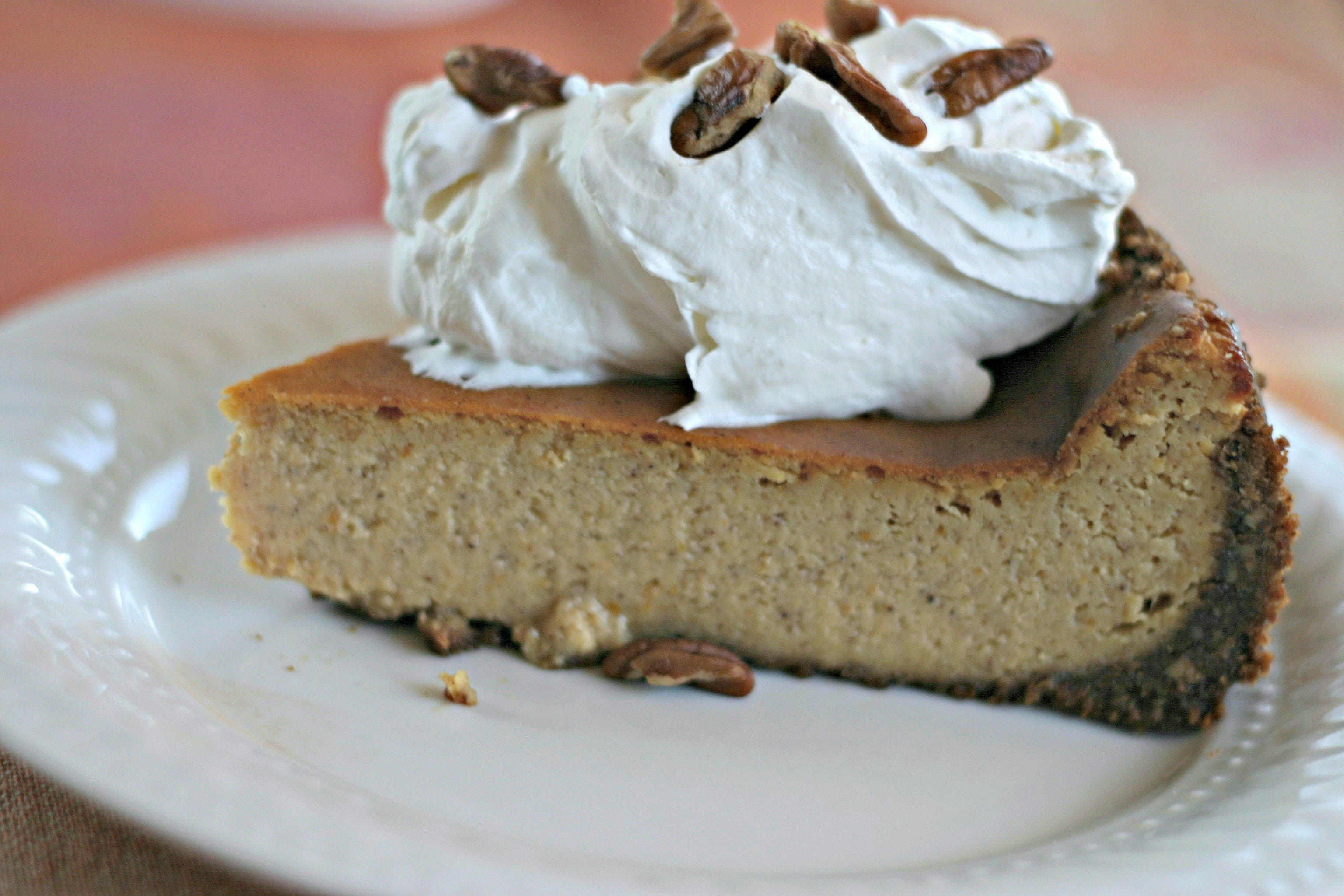 Pumpkin Cheesecake With Gingersnap Cookie Crust Dishin