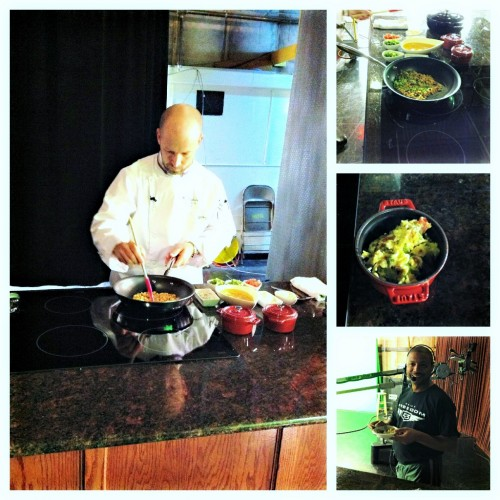 Chef Marc Dunham making Migas