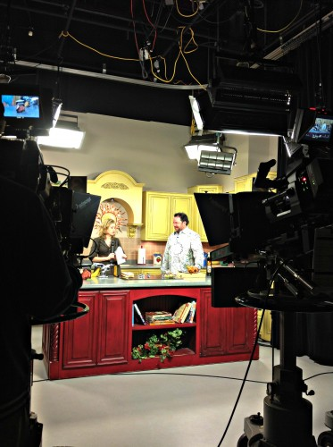 Matt Kelley cooking a recipe from Food Lovers' Guide to Oklahoma from Lucky's Tulsa