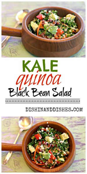 kale avocado quinoa black bean salad recipe