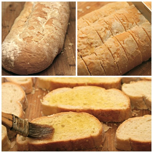 slice artisan bread