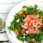 Avocado Salmon Salad with Arugula