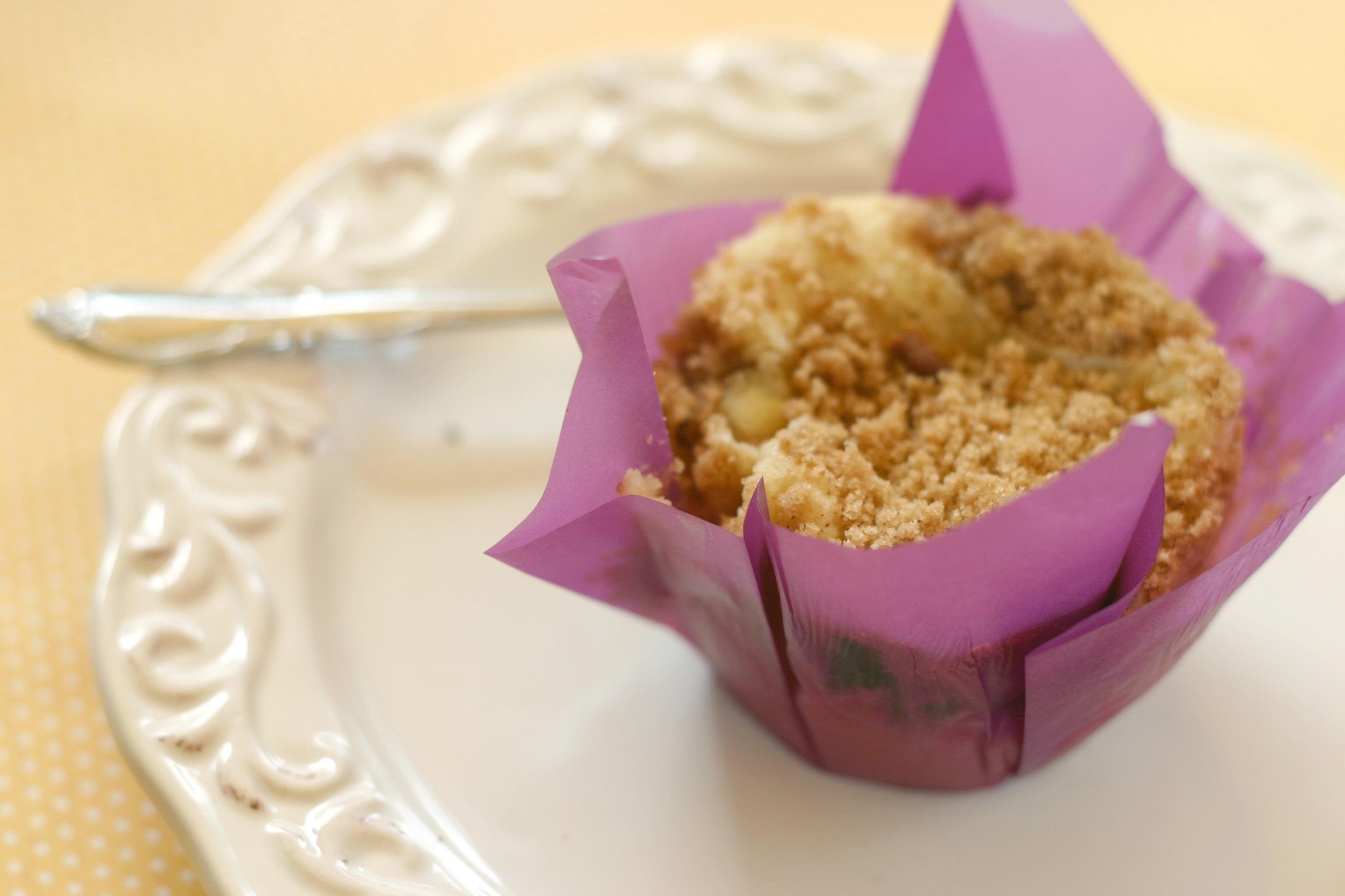 blueberry white chocolate muffin
