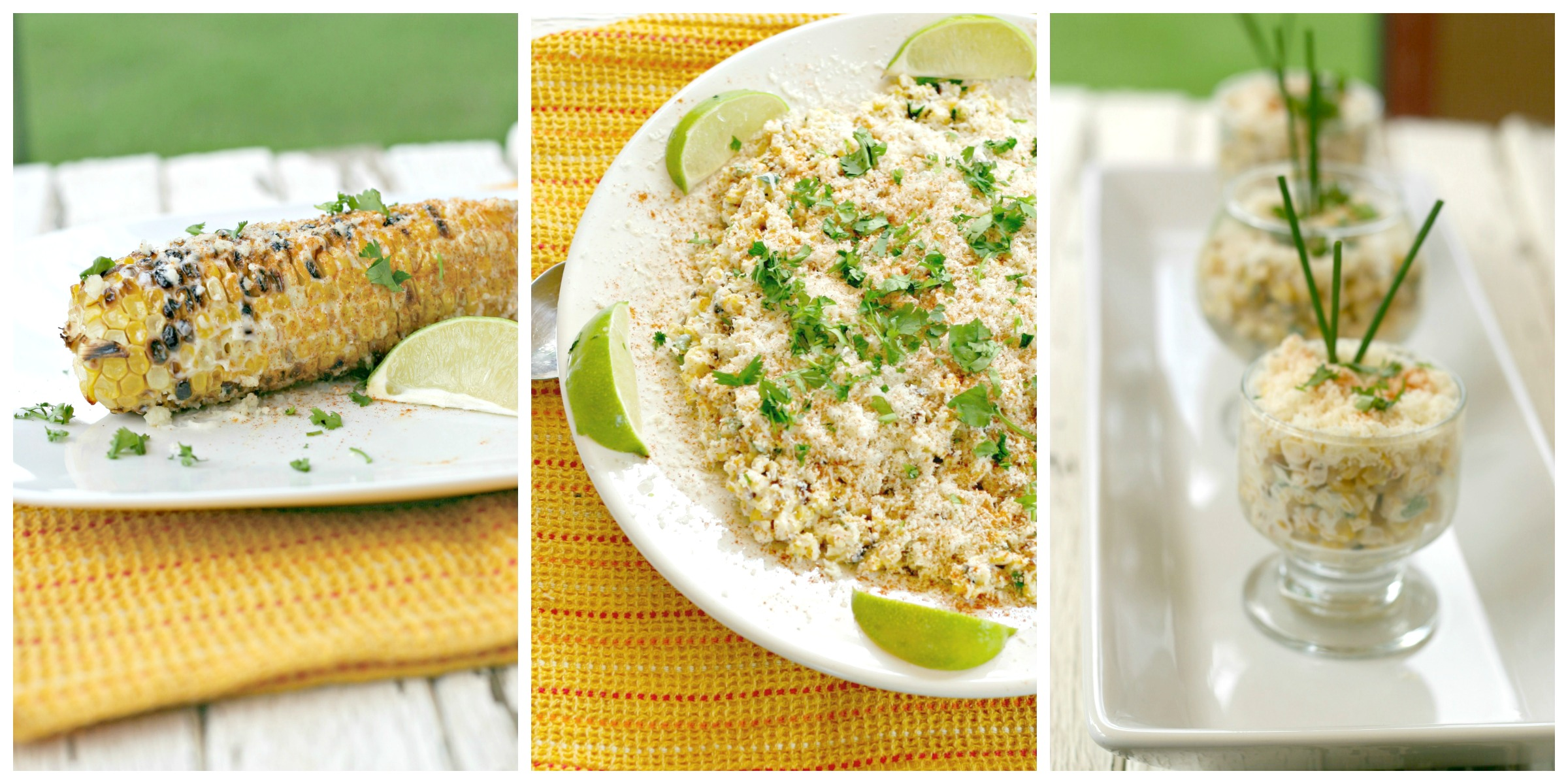 Elote three ways