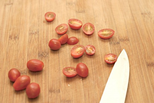 slice cherry tomatoes