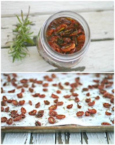 photo of homemade sun-dried tomatoes