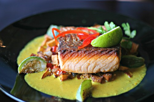 Guernsey Park curry salmon