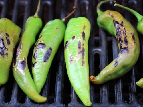 Grill hatch chiles