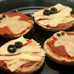 Halloween Treat Recipes – Ghost & Mummy Pizzas