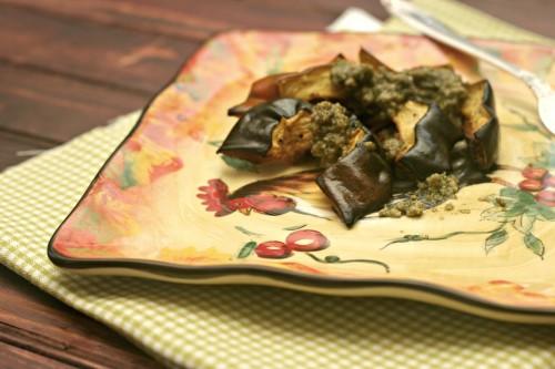 acorn squash with sage pesto