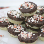 Dark and White Chocolate Peppermint Bark Bites