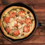 Iron Skillet Chicken Pesto Pizza