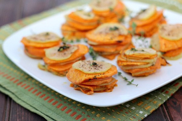 Sweet Potato Stacks With Crispy Sage Leaves Recipes — Dishmaps