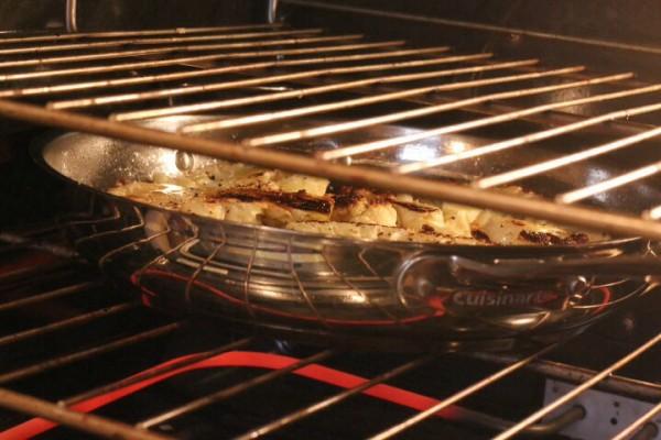 Pan roast cauliflower steaks