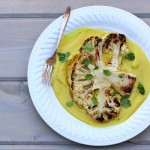 Cauliflower steaks puree
