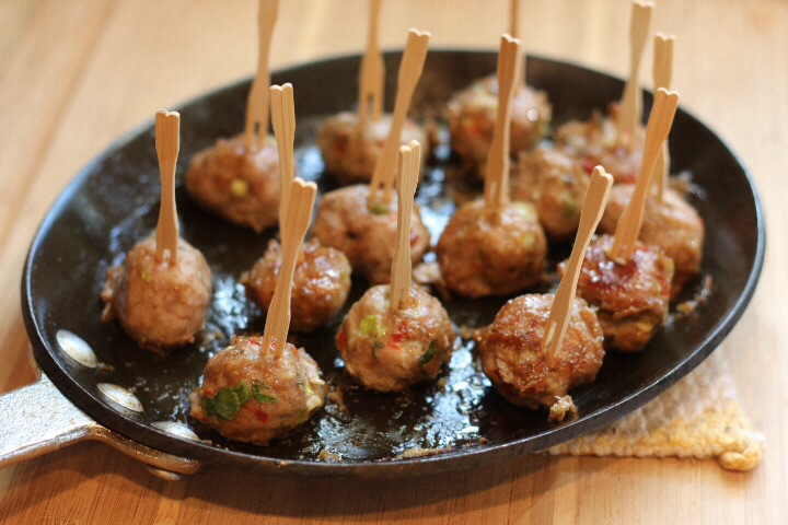 Brown sugar cider glazed turkey meatballs