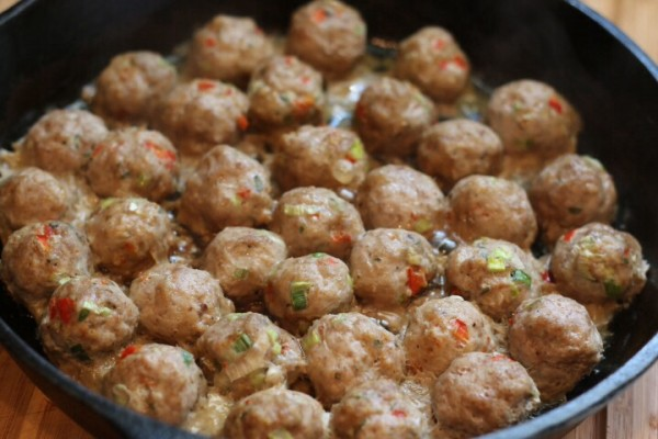 Glazed turkey meatball recipe