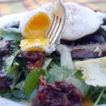 Warm Mushroom Salad with Garlicky Vinaigrette