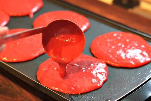 red velvet pancakes griddle