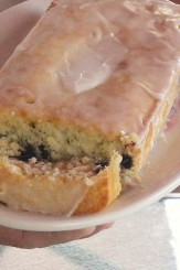 lemon glazed zucchini blueberry bread