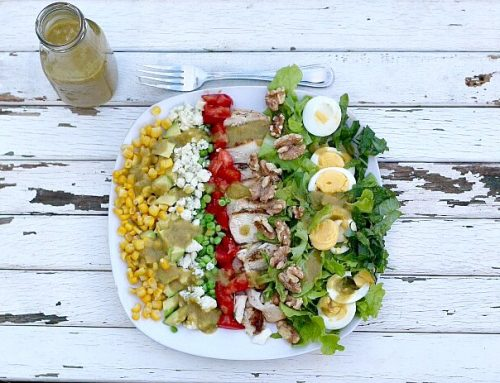 Cobb Salad with Roasted Onion Vinaigrette